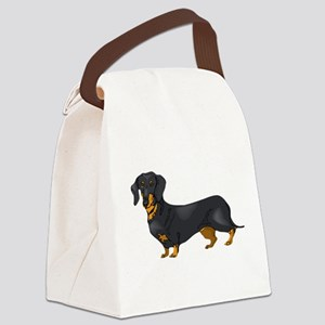 Black and Tan Dachshund Canvas Lunch Bag